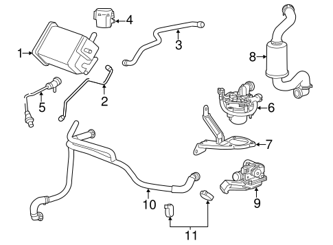 OEM Emission Components for 2014 Chevrolet Impala Limited