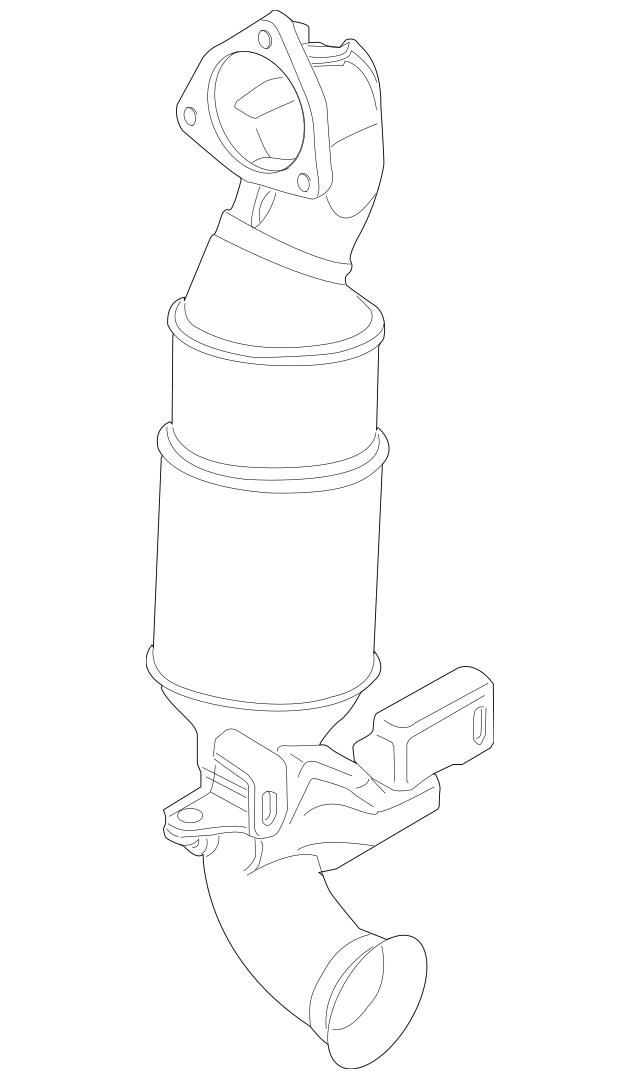 2007-2012 Mini Cooper Catalytic Converter 18-30-7-558-755