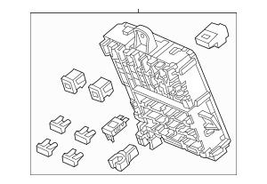 2011 Honda INSIGHT Box Assembly, Fuse 38200-TM8-A22