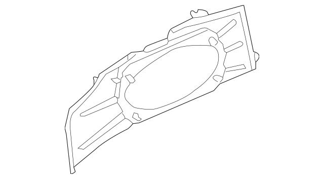 1999-2004 Porsche Boxster Speaker Housing 986-551-431-00