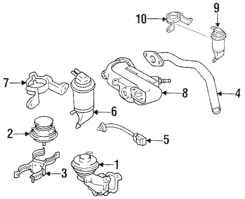 EMISSION COMPONENTS for 1994 Toyota Camry