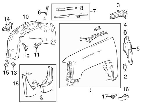 Fender & Components Parts for 2014 Chevrolet Silverado