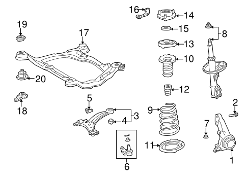 Genuine OEM SUSPENSION COMPONENTS Parts for 1998 Toyota