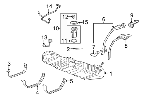 FUEL SYSTEM COMPONENTS Parts for 2008 Chevrolet Uplander