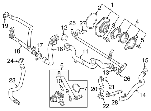 WATER PUMP for 2007 Volvo XC90