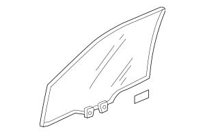 2009-2012 Honda FIT 5-DOOR Glass Assembly, L Front Door