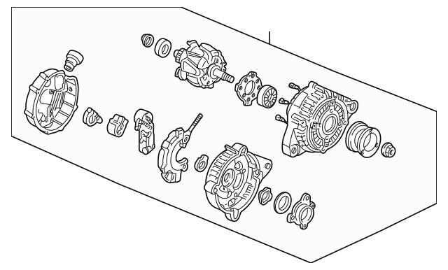 1995-2005 Acura NSX COUPE Alternator Assembly (CLG18