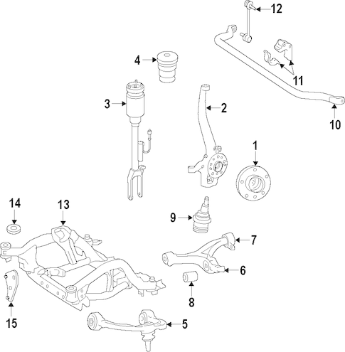SUSPENSION COMPONENTS for 2014 Mercedes-Benz GL450