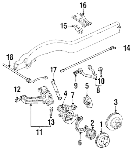 OEM SUSPENSION COMPONENTS for 1994 Chevrolet Suburban