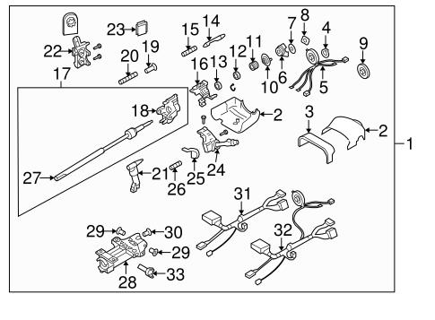 Steering Column Assembly for 2006 Chevrolet Trailblazer
