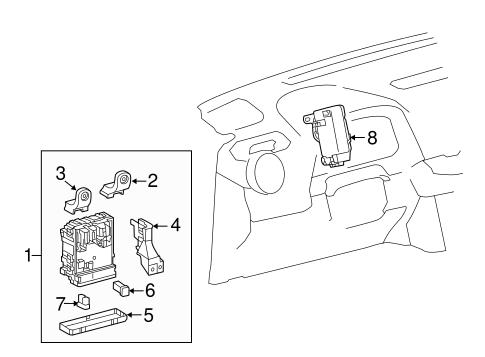 Genuine OEM Fuse & Relay Parts for 2016 Toyota RAV4
