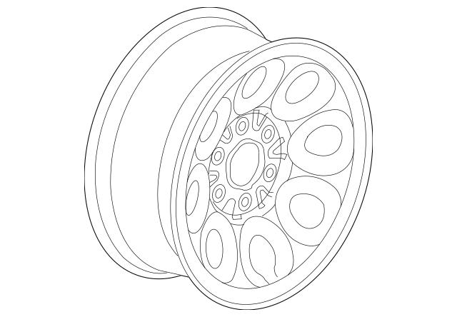 Genuine OEM Wheel, Steel Part# 9595249 Fits 2005-2013 GM
