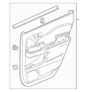 Genuine 2016 Honda PILOT 5-DOOR Lining, R Rear Door