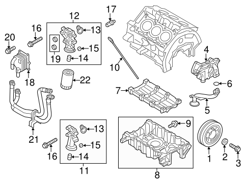 OEM 2012 Ford Explorer Engine Parts Parts