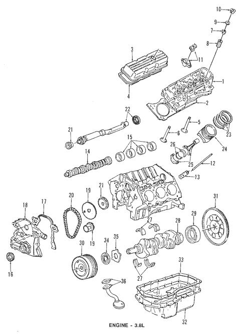 OEM 1992 Oldsmobile Silhouette Engine Parts Parts