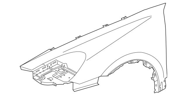 2011-2014 Porsche Cayenne Fender 958-503-031-03-GRV