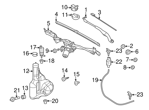 Wiper & Washer Components for 2011 Mercedes-Benz Sprinter
