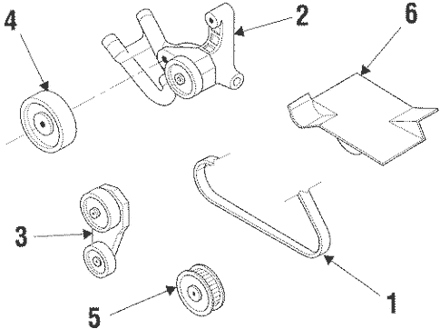 Belts & Pulleys for 2000 Pontiac Grand Prix