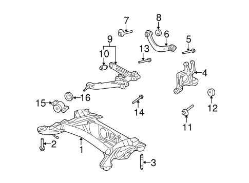 Genuine OEM Rear Suspension Parts for 2009 Toyota Matrix S