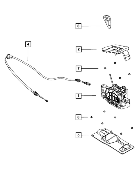 Gearshift Controls and Related Parts for 2010 Dodge