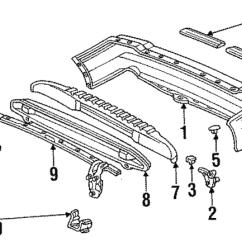 1993 Honda Accord Parts Diagram 1981 Yamaha Xt250 Wiring 1991 5 Door Beam Rear Bumper 71530 Sm5 A00