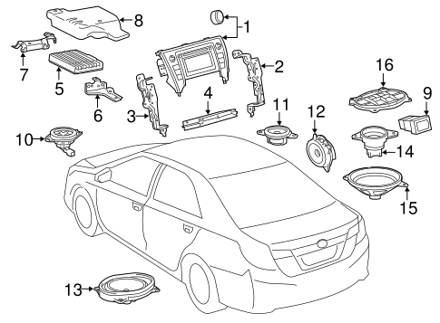 Genuine OEM Sound System Parts for 2016 Toyota Camry