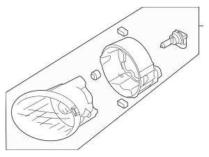 2013-2019 Subaru Outback Fog Lamp Assembly 84501AJ10A