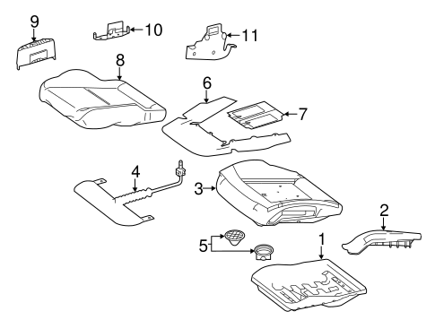 Front Seat Components for 2008 Mercedes-Benz C 300