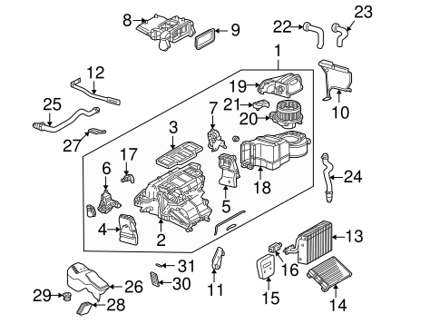 Evaporator & Heater Components for 2004 Mercedes-Benz G