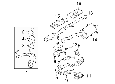 EXHAUST COMPONENTS for 2005 Subaru Forester