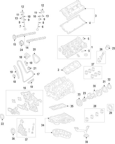 Genuine OEM Oil Pan Parts for 2014 Toyota Highlander