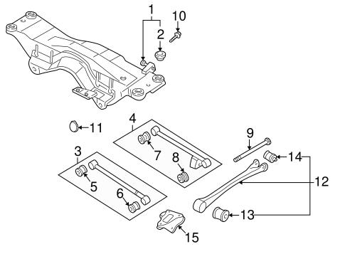Genuine Subaru OEM Lateral Link Bolt Impreza Forester
