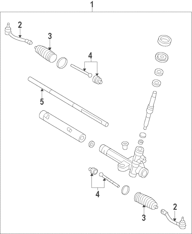 2007-2009 Hyundai Elantra Rack Assembly 56531-2H000