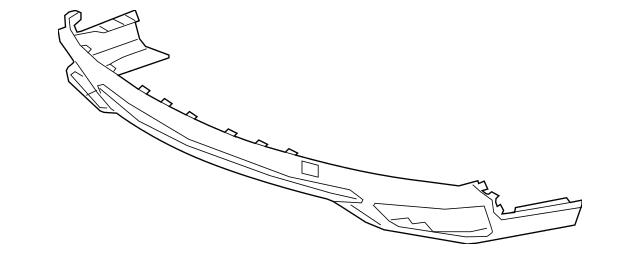 2017-2020 Acura MDX 5-DOOR Garnish, Rear Bumper Face Skid