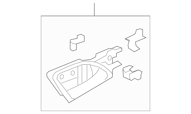 2013-2015 Honda CROSSTOUR 5-DOOR Handle Assembly, R Inside