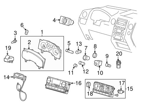 OEM 2004 Ford F-150 Air Bag Components Parts