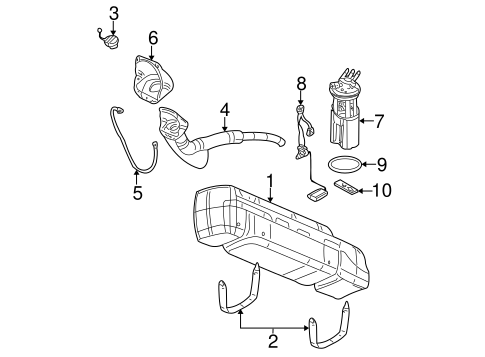 Fuel System Components for 2001 GMC Yukon XL 1500