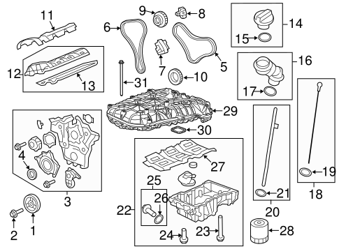 ENGINE PARTS for 2010 Chevrolet Traverse