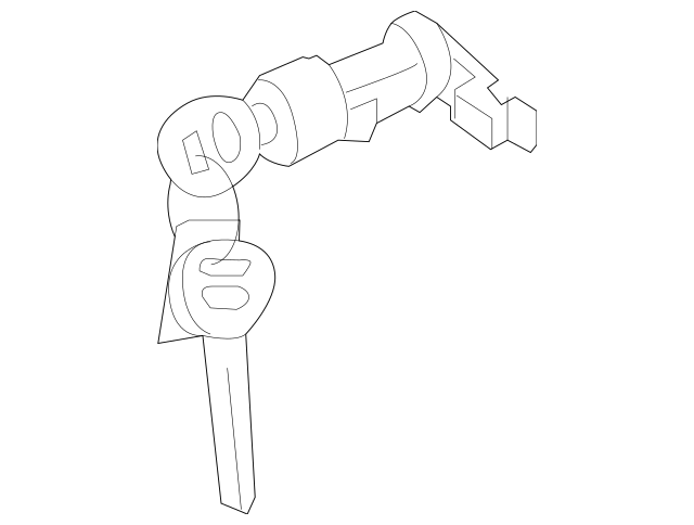2000-2005 Hyundai Accent Lock Cylinder 81980-25A00