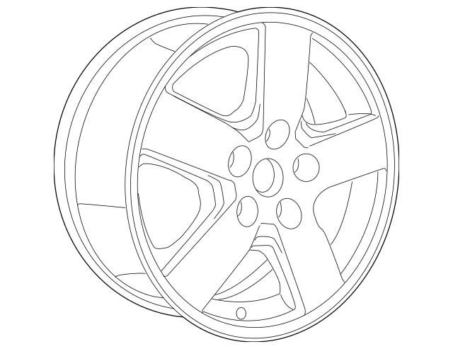 Genuine OEM 2007-2011 Dodge Nitro Wheel, Alloy 1BK47SZ0AE