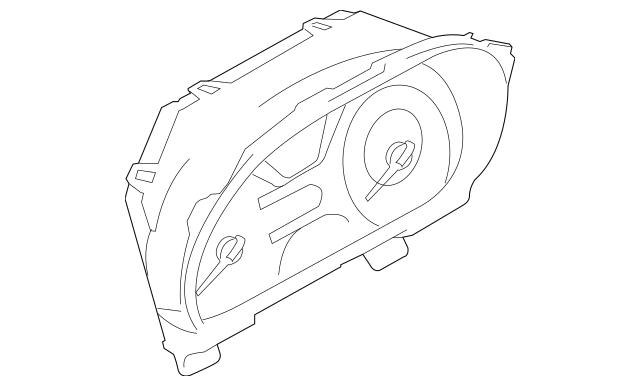 2010 Nissan Cube Instrument Cluster 24820-1FC4B