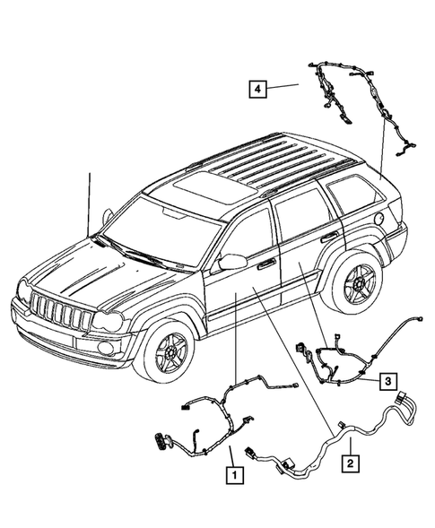 Wiring-Body and Accessories for 2008 Jeep Grand Cherokee