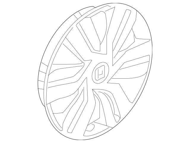 Honda Trim Assembly, Wheel (15X6J) 44733-T5R-A12