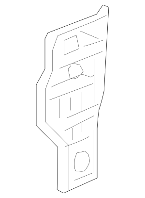 2016-2017 Honda Pillar, R Front (Lower) (Inner) 64131-TBC