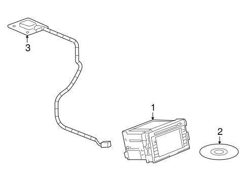 OEM 2008 Saturn Vue Navigation System Parts