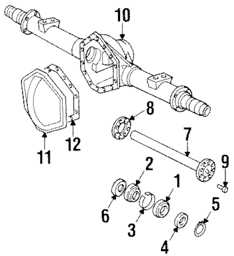 OEM AXLE HOUSING for 1989 Chevrolet K2500 Pickup