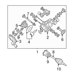 Nissan Titan Front Suspension Diagram Fender Stratocaster 5 Way Switch Wiring Carrier Axles For 2014 Courtesy Parts 1