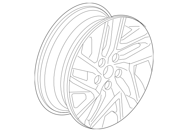 2016 Honda CR-V 5-DOOR Disk, Aluminum Wheel (17X7J) (Enkei