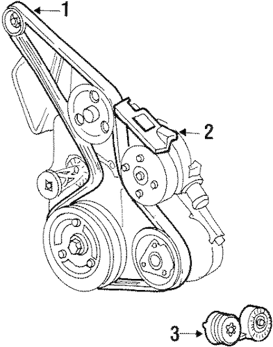 BELTS & PULLEYS for 1998 Chevrolet Lumina