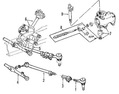 Steering Gear & Linkage for 1993 Ford E-150 Econoline Club